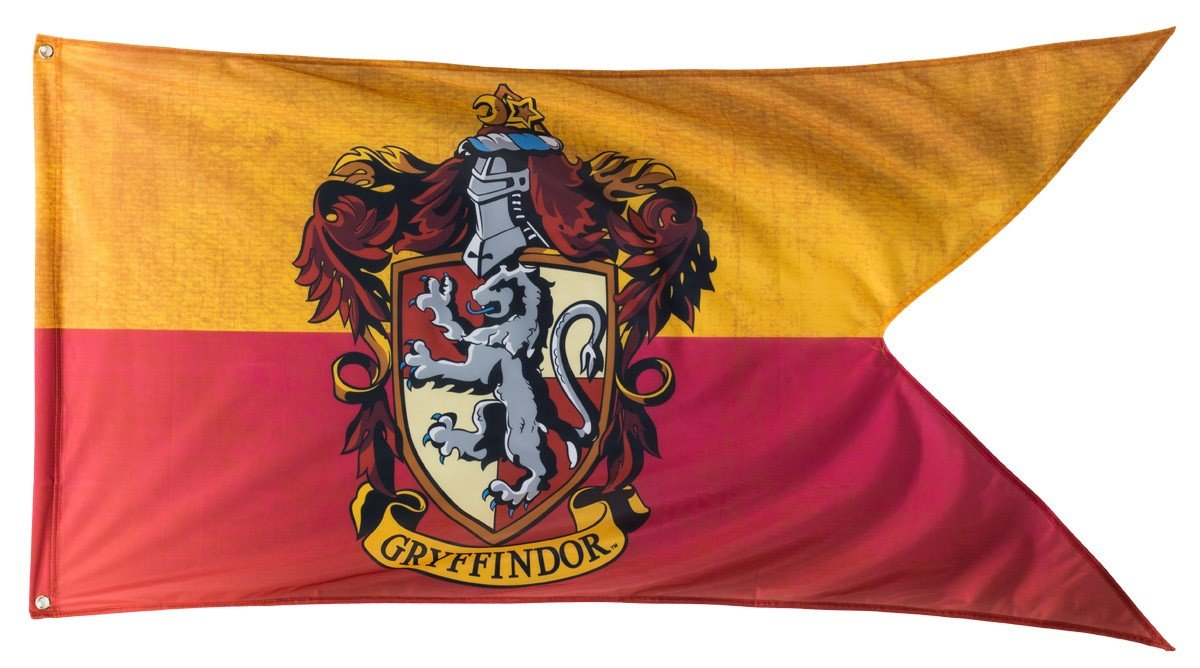 "Calhoun Harry Potter Hogwarts House Crests Outdoor Flag (30"" by 60"") (Gryffindor)"