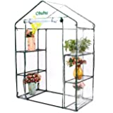 """Ohuhu Walk-in 3 Tier 6 Shelf Portable Greenhouse, 78.7""""x55""""x29.1"""" High Weight Capcity Durable Green House for Backyards,Deck, Patio and Balcony"""