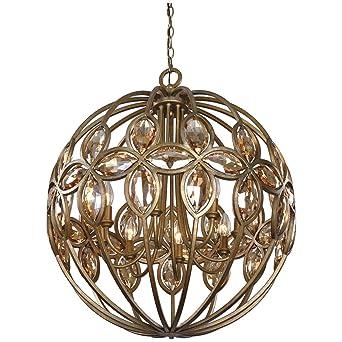 Amazon uttermost 21269 ambre 8 light sphere chandelier gold uttermost 21269 ambre 8 light sphere chandelier gold aloadofball Choice Image