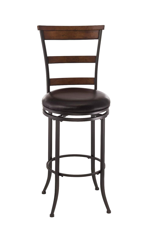 Pleasant Hillsdale Furniture Cameron Swivel Ladder Back Bar Stool Chestnut Brown Beatyapartments Chair Design Images Beatyapartmentscom
