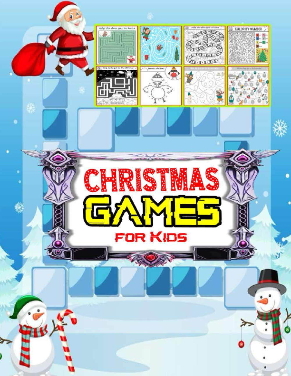 Christmas Games For Kids: New Games And Activity Book For Your Kids-great Stress Relief Gaming And Activity Book-60 Page