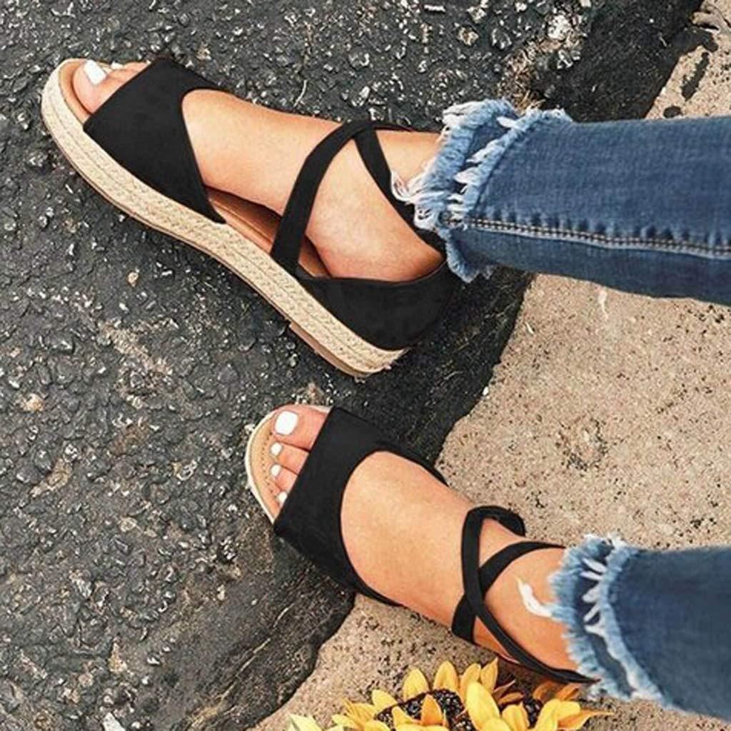 Darringls_Sandalias de Verano Mujer,Sandalia calados Peep Toe ...