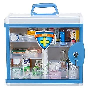 AZDENT Wall Mounted Medicine Cabinet Lockabe Medicine Storage Box With  Compartments 13.6X12.4X6.