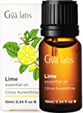 Gya Labs Lime Essential Oil - Mood Lifter for Sharpened Focus & Clear Skin 10ml - 100% Pure Natural Therapeutic Grade…