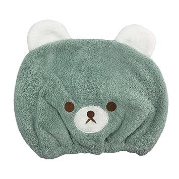 PreciousBaby Toalla de secado de pelo, adorable toalla de pelo de animal para niños, ultra absorbente y de secado rápido: Amazon.es: Hogar