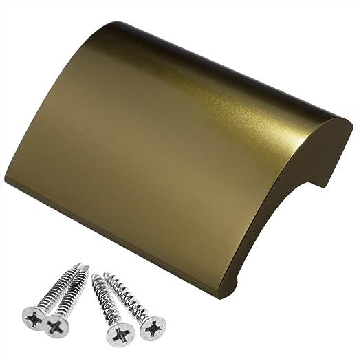 Schrauben Balkongriff//Balkont/ürgriff flach aus Aluminium stabiler Ziehgriff,wei/ß inkl