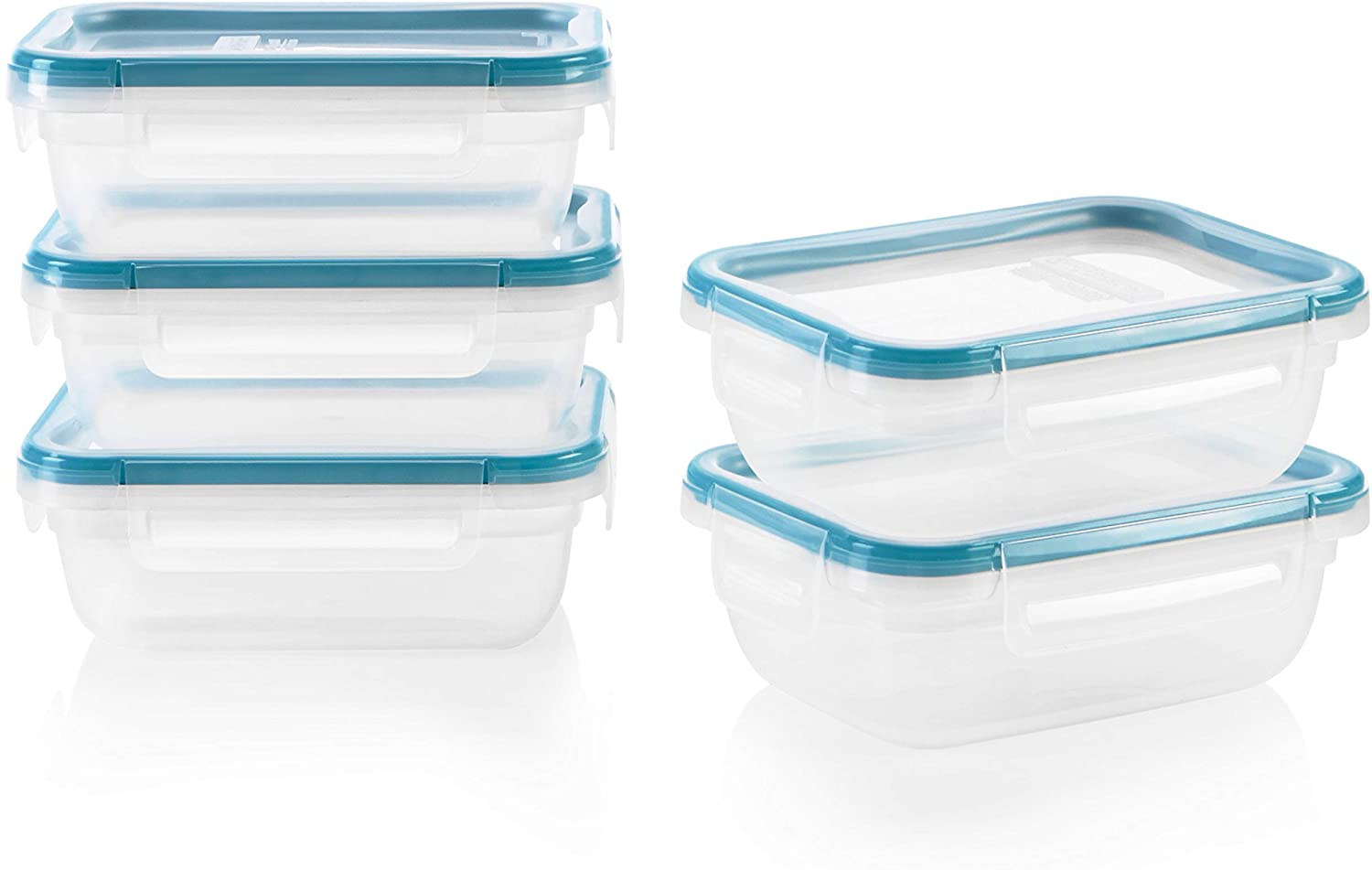 Snapware 1136622 SN TS 10pc Rect Plast Meal Prep Kit, 10 pieces
