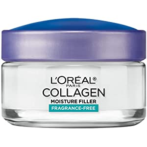 L'Oreal Paris Skincare Collagen Face Moisturizer, Fragrance-Free Day and Night Cream, Anti-Aging Face, Neck and Chest Cream to smooth skin and reduce wrinkles, 1.7 oz