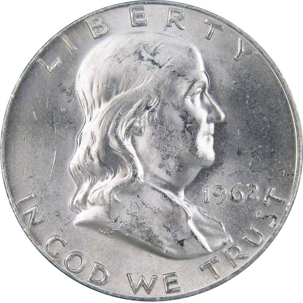 1 COIN 1962-D Franklin Half Dollar half BU Uncirculated