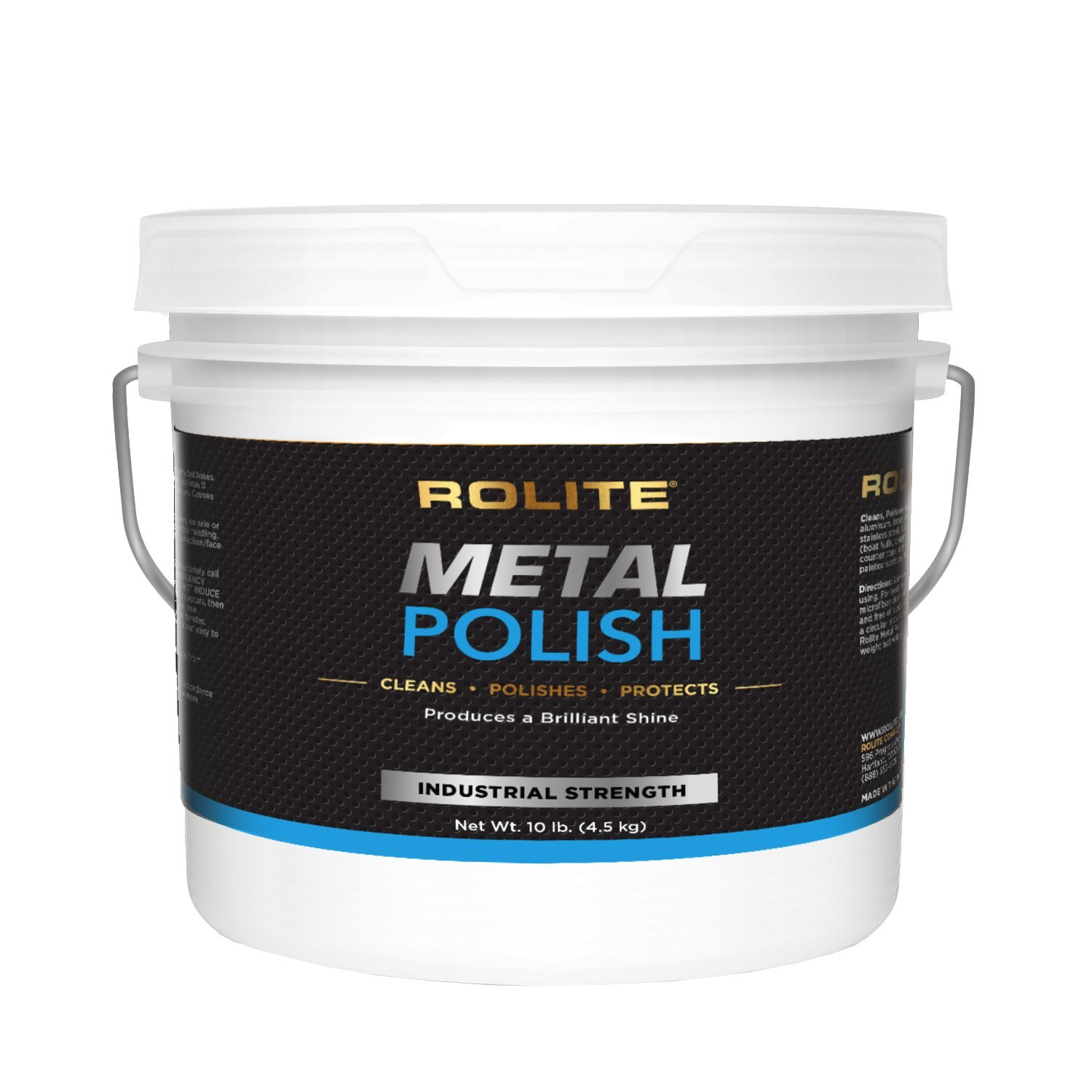 Rolite - RMP10# Metal Polish Paste - Industrial Strength Scratch Remover and Cleaner, Polishing Cream for Aluminum, Chrome, Stainless Steel and Other Metals, Non-Toxic Formula, 10 Pounds, 1 Pack
