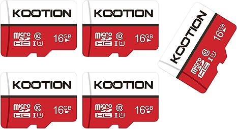 KOOTION Micro SD 16GB Clase 10 Tarjeta MicroSD Tarjetas Memoria ...