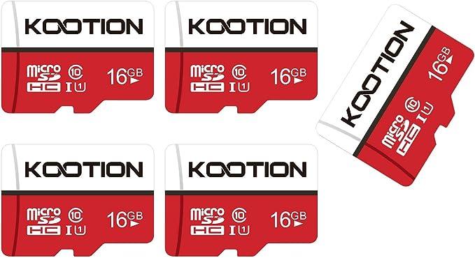 Kootion Micro Sd Karten 16gb Class 10 5er Pack Mini Sd Computer Zubehör
