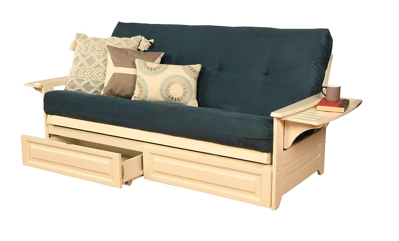 Kodiak Furniture Futon Set, Full, White