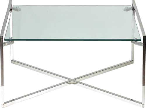Cortesi Home Celia Glass Coffee Table