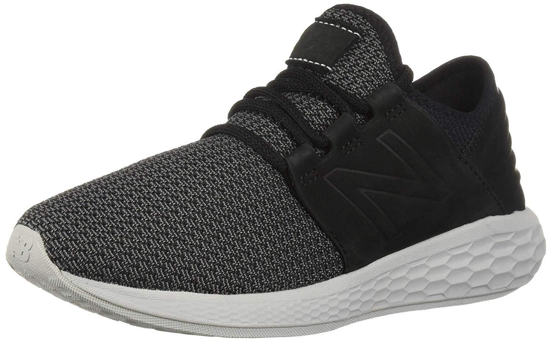 New Balance Men's Cruz V2 Fresh Foam Running Shoe, black/castlerock/nubuck, 11 D US by New Balance