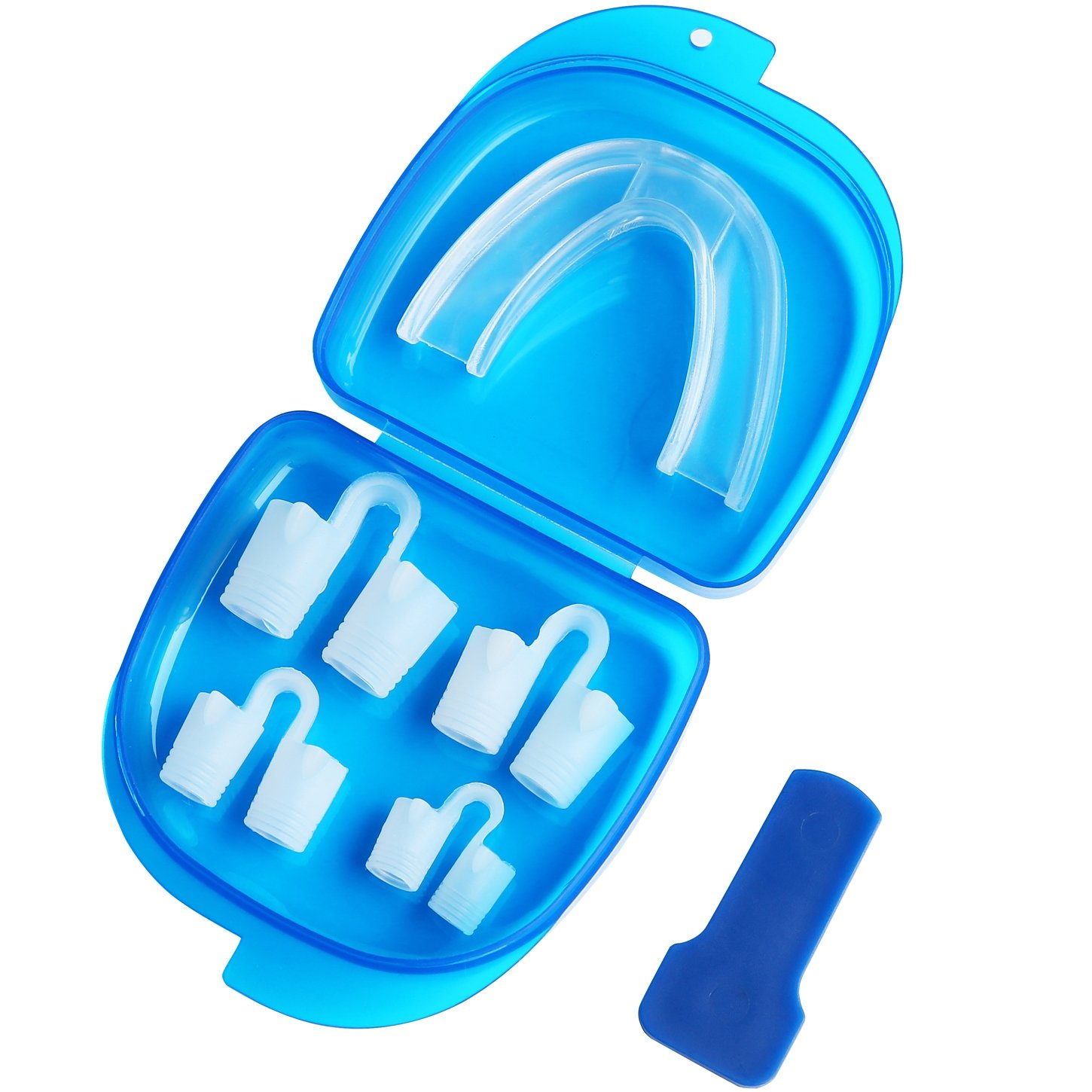 Anti Snoring Kit Dentist-Approved Mouthpiece + Nose Vents | Night Mouth Guard | Snore Stopper Solution Sleep Apnea Bruxism Sleep Aid| Prevent Snoring Teeth Grinding Clenching Mouth Guards Better Sleep