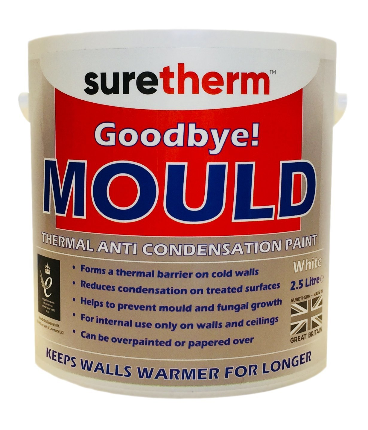 Anti Mould & Anti Condensation Insulating Glass Bubble Thermal Paint 2.5Ltrs Suretherm N-Virol