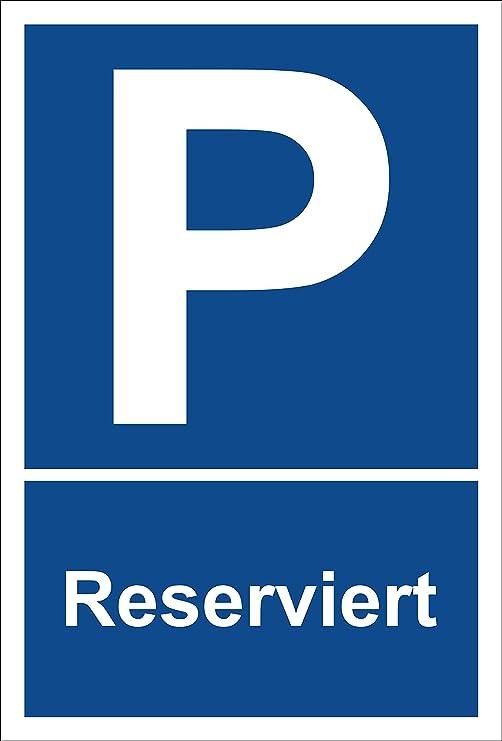 Cartel - Reservado - Aparcamiento Cartel estacionas - 15 x ...