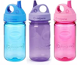 Nalgene Kids Grip-n-Gulp 12oz. Water Bottles, 3 Bottle Bundle Pack