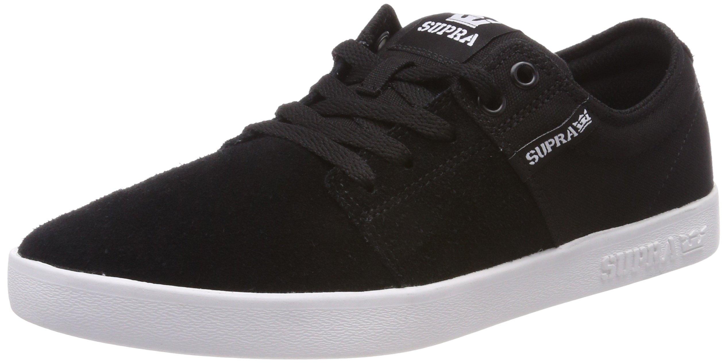 Supra Stacks II Skate Shoe, Black/Grey-White, 13 Regular US