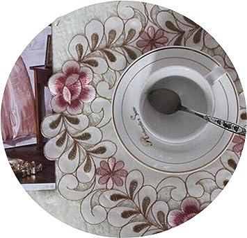 Amazon Com Luxury Satin Round Table Place Mat Pad Cloth