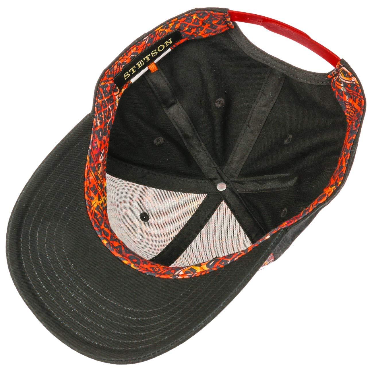 Stetson Gorra BBQ Hombre | de algodón Beisbol Curved Brim Cap Snapback, con Visera Primavera/Verano | Talla única Negro: Amazon.es: Ropa y accesorios