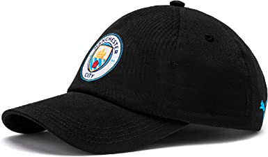 PUMA Manchester City - Gorra de fútbol, Color Negro: Amazon.es ...