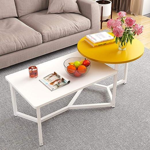 HAKN Mesa de té Mesa de té Simple salón Mesa Redonda Cuadrada ...