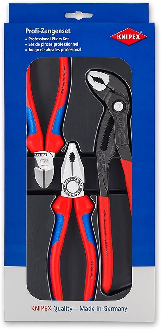fibre optique renforcé Knipex Knipex plat Rundzange l.220mm VDE-isolé en plastique