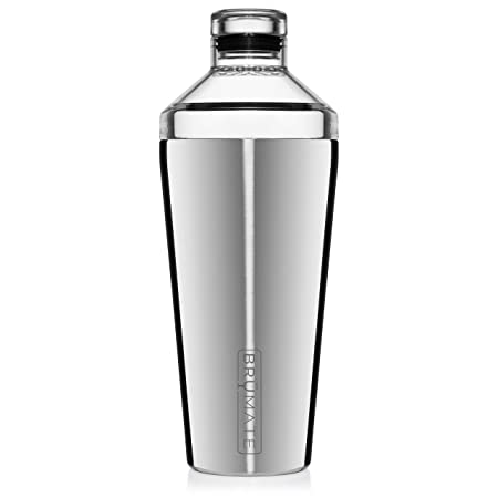 Br Mate Shaker, 20oz Triple-Insulated Stainless Steel Cocktail Shaker and Tumbler With Clear, Shatter-Proof Top and Lid Shaker