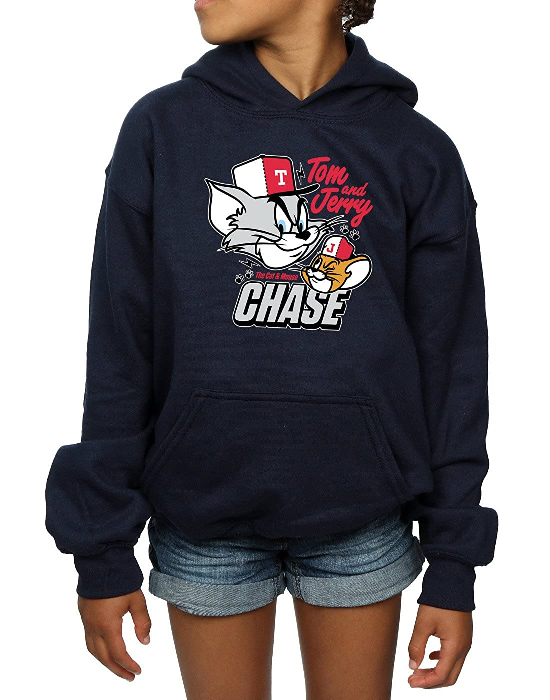 Tom And Jerry Girls Cat /& Mouse Chase Hoodie