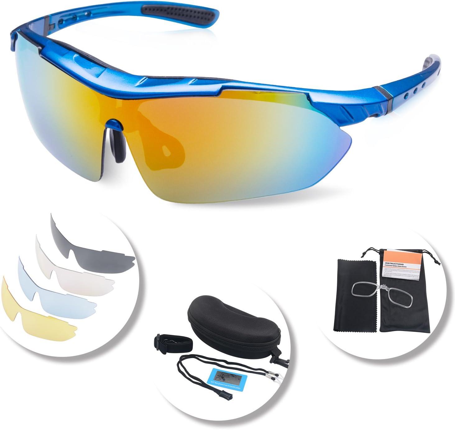 sport occhiali polarizzati occhiali da sole da ciclismo Giallo per equitazione ciclismo Jiamins lenti protettive dai raggi UV