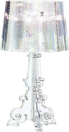 Kartell Bourgie Lampada Da Tavolo Dimmerabile Trasparente Cristallo Amazon It Illuminazione