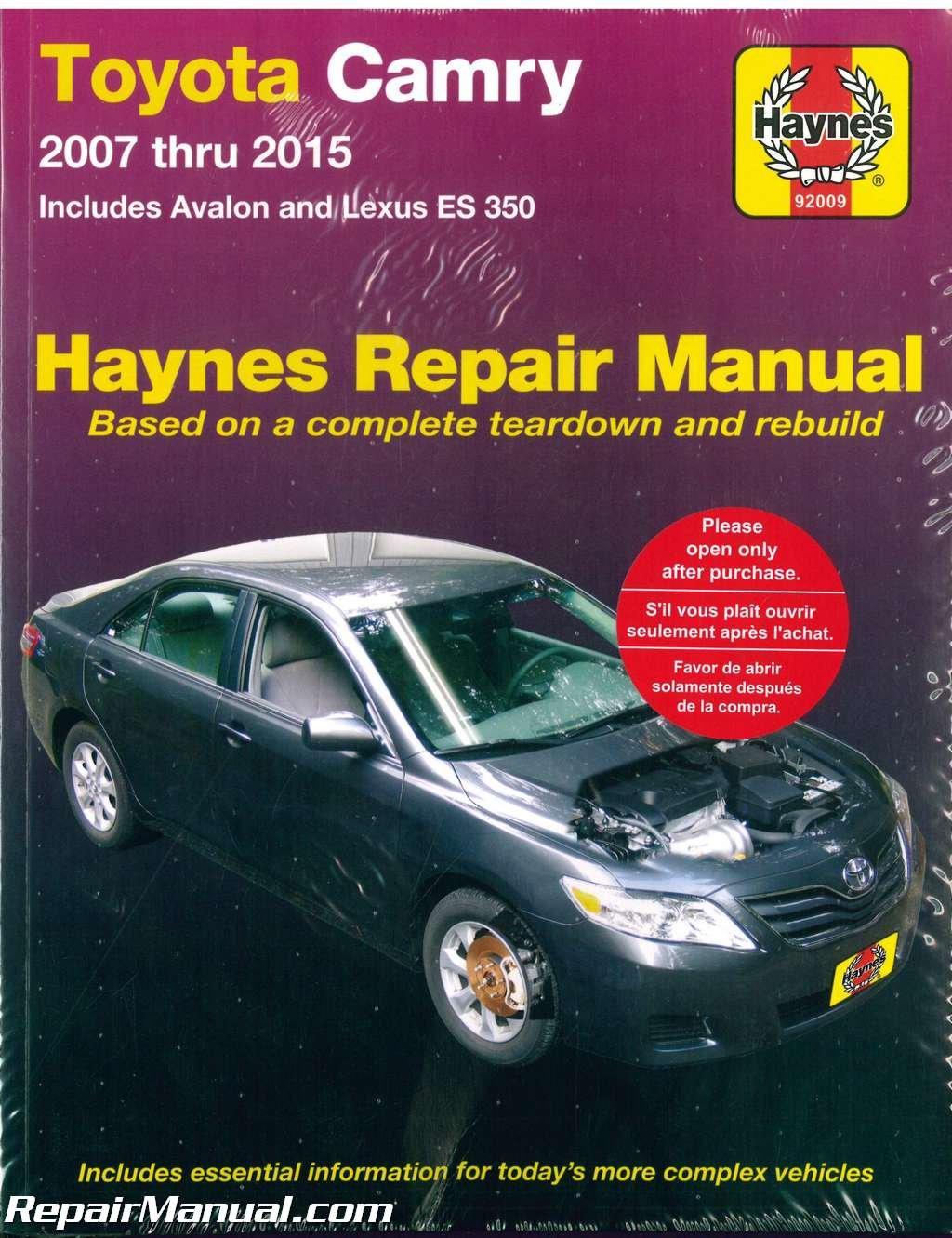 2015 Lexus Is 250 Repair Manual Ebook 1994 Oldsmobile Achieva 2400 Battery Fuse Box Diagram Array H92009 Haynes Toyota Camry Avalon Es 350 2007 Car Rh Amazon