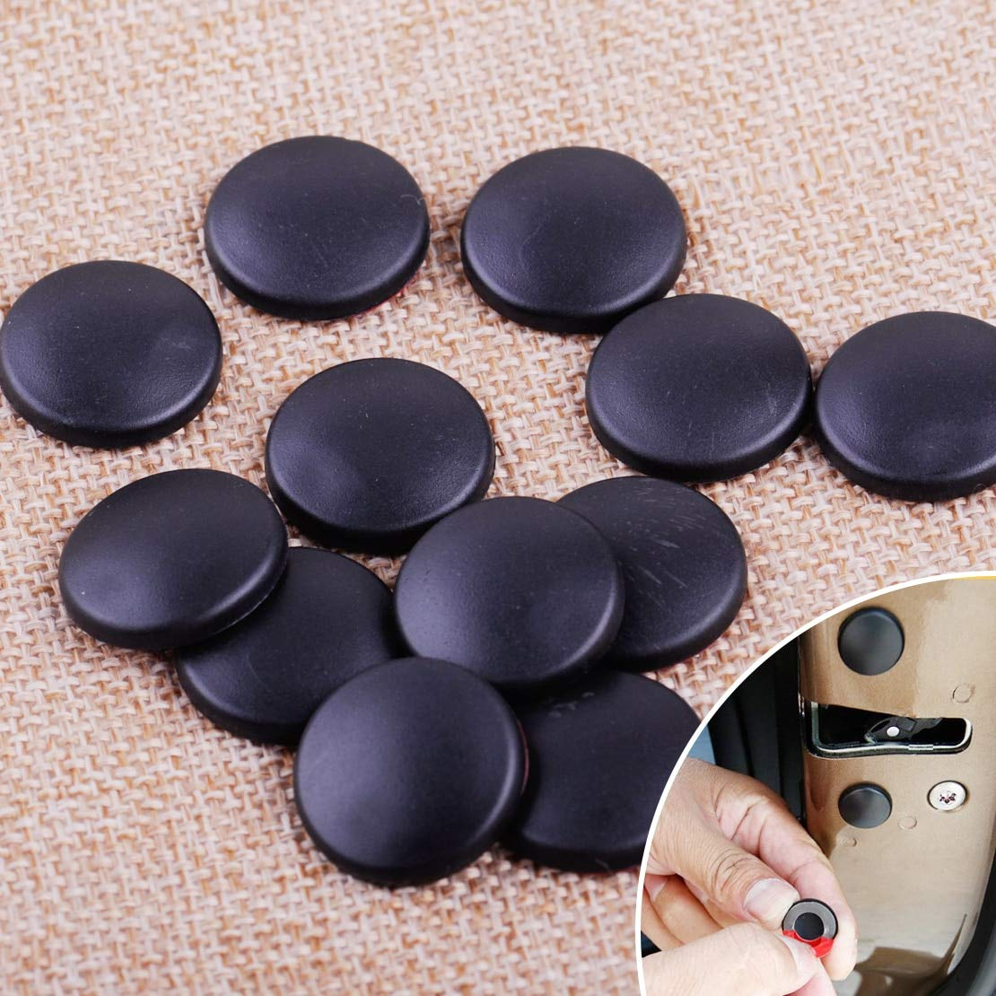 Universal Car 12Pcs Interior Accessorie Door Lock Screw Protector Cover Cap Trim