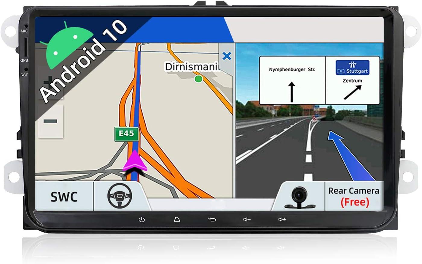 JOYX Autoradio Android 10 Estéreo Compatible con VW Golf/Skoda/Seat/Polo GPS 2 DIN   Cámara & Canbus Gratis  9 Pulgada - Soporte Dab Mandos de Volante USB 4G WiFi Bluetooth MirrorLink Google Carpl