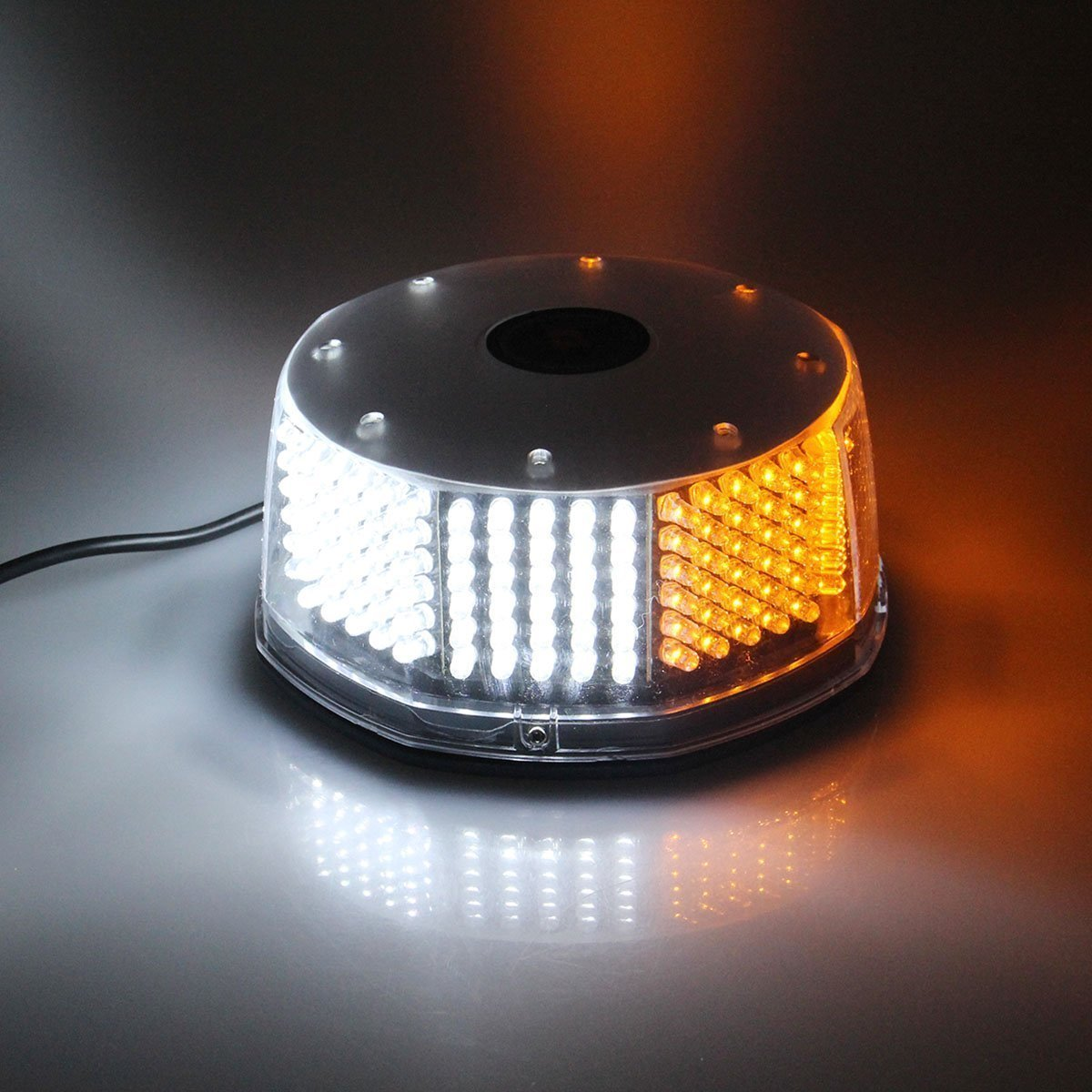 Lanxi 240 LED Lumi/ère Stroboscopique Gyrophare pour Voiture avec Fixation Magn/étique Camion Lumi/ères Davertissement Feux Stroboscope Flash avec 12v Plug Allume-cigare