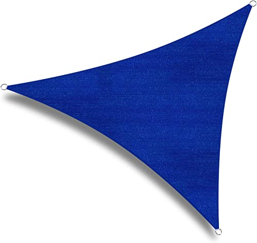 w.una 20'x20'x20' Oversized Triangle Garden Patio Sun Sail Shade 20 ft