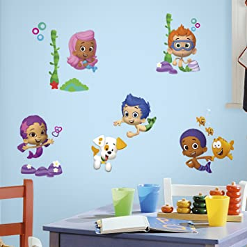 RoomMates RMK2404SCS Bubble Guppies Peel and Stick Wall Decals  1 Pack. RoomMates RMK2404SCS Bubble Guppies Peel and Stick Wall Decals  1