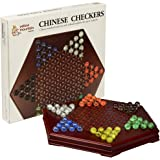Chinese Checkers / Halma Wooden Game Set w/ Drawers and Marbles