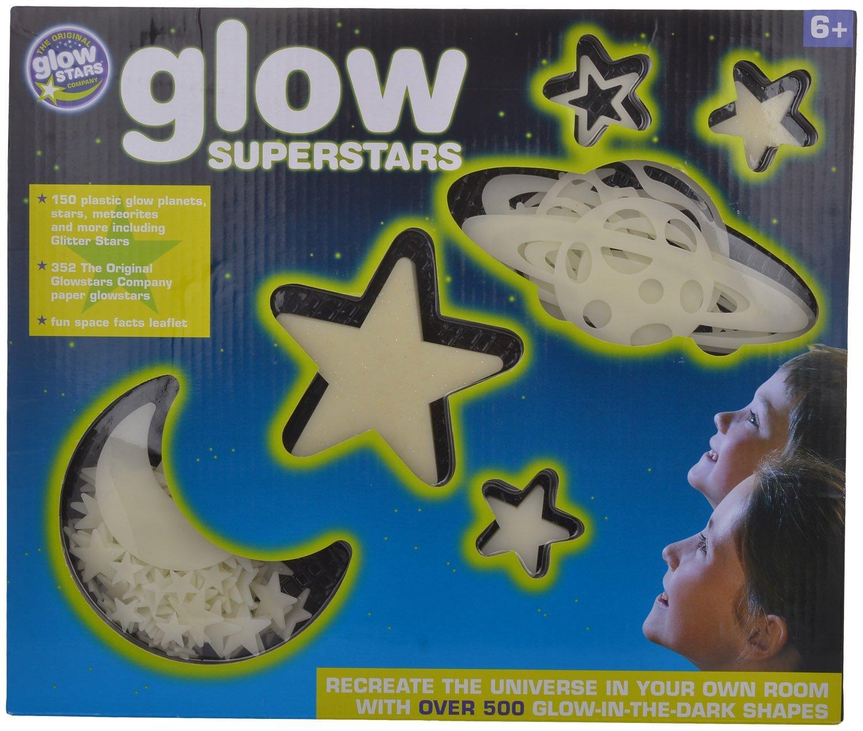 Brainstorm Estrellas adhesivas que brillan la oscuridad