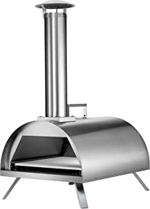 "Hayes 12"" Outdoor Pizza Oven Wood/Charcoal/Flavored Pellets Pizza Maker Stainless Steel 