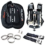 Palantic Xtreme Donut Wing Double Tank SS Backplate and Harness Deluxe Set Plus Tank Holder, 40-Pound