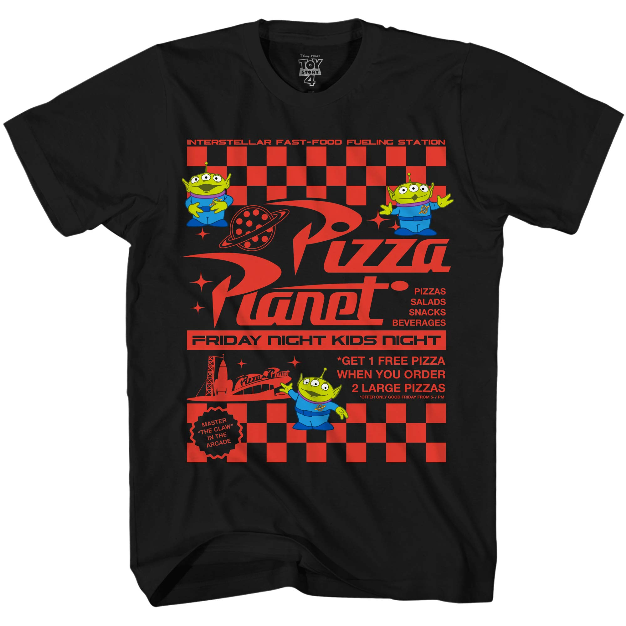 Disney Pixar Toy Story Pizza Planet Take Out Flyer Disneyland World Tee Funny Humor S G Sh