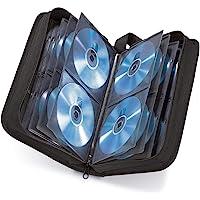 Hama - Estuche porta CD para 120 CD/DVD/Blu-rays, portafolios para guardar CD, negro