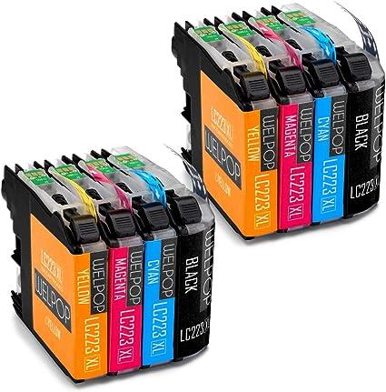 WELPOP - Cartuchos de tinta compatibles con Brother LC223 para ...
