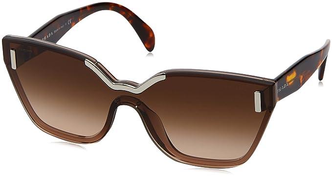 PRADA Prada Damen Sonnenbrille » PR 16TS«, braun, VIT4O0 - braun/silber