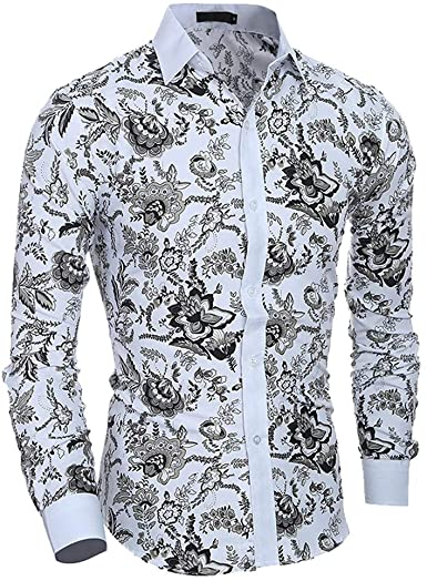 SoonerQuicker Camisas Hombre Manga Hombres Primavera Verano Casual Estampado de Flores Camisa Delgada de Manga Larga Top Blusa - 2019 última Camisa Casual cómoda: Amazon.es: Ropa y accesorios