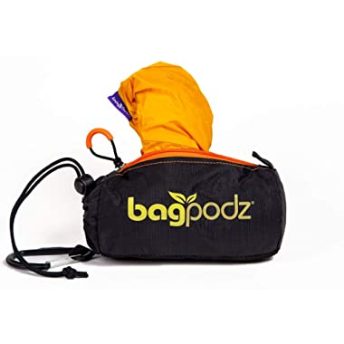 BagPodz Reusable Bag and Storage System - Saffron Yellow (Contains 5 Bags)