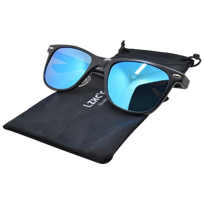 LZXC Wayfarer Gafas de sol polarizadas unisex AL-MG Frame Spring Bisagra para hombre Mujer